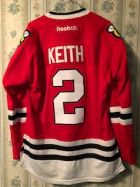 Red, white and black with keith 2 print hockey jersey Amite, 70422