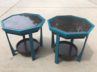 Two metal/wood side tables Oneonta, 35121