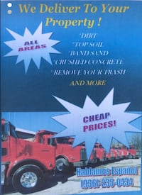 Clean Fill dirt for all areas Houston