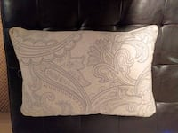 Decorative White and Blue Pillow