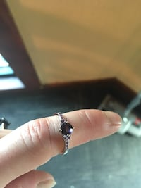 Size 8 Amethyst ring sterling silver Anderson, 29621