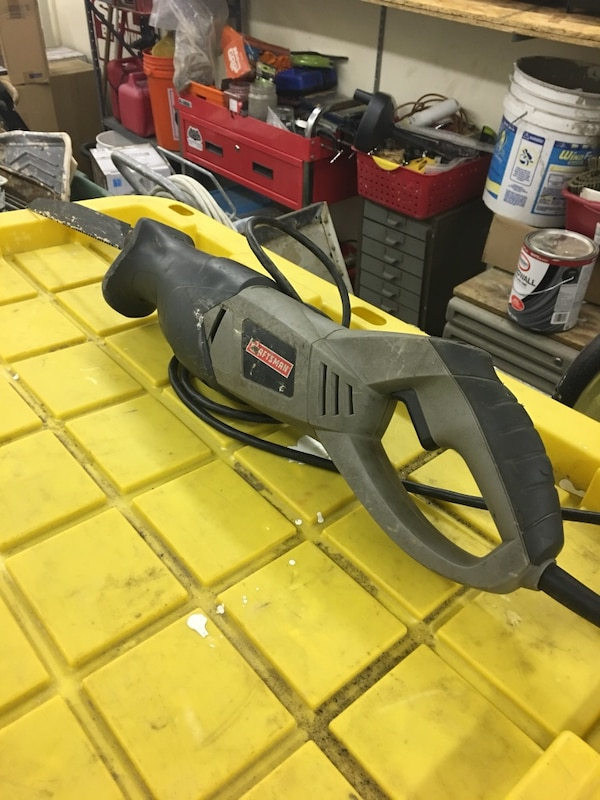 gray Craftsman corded reciprocating saw