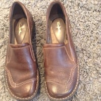 pair of brown leather slip-on shoes Saginaw, 48602
