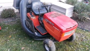 Riding mower with bag