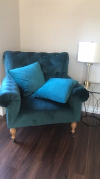 blue and black fabric sofa chair Chicago, 60610