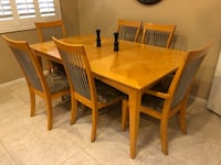 Dining table with six chairs   2052 mi