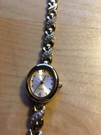 round silver-colored analog watch with link bracelet Bethel Park
