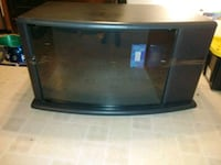 press wood and glass entertainment stand Virginia Beach, 23455