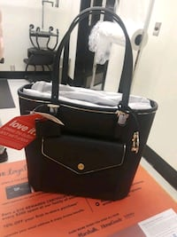 black and gray leather tote bag Palmdale, 93591