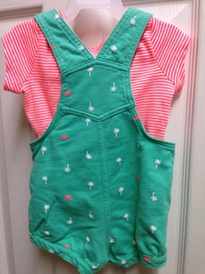 children's teal dungaree shorts