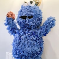 Handmade Cookie Monster Pinata with Pull String Edmonton, T6R 2K9