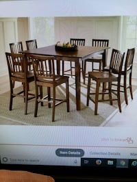 Pub table with 6 chairs and leaf Chantilly