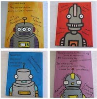 Robot paintings - SIGNED by the Pet Shop Boys (Neil Tennant & Chris Lowe) Sad Robot World Lyrics Lincoln, L0R