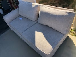 Free tan grey 2 seat couch