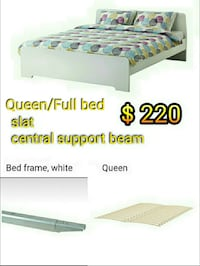White Queen/ Full  Bed