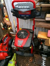 red and black Troy-Bilt pressure washer Seabrook