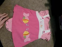 baby's pink and white two fishes embroidered onesie Pearisburg, 24134