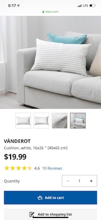 Vanderot cushion cover colour white ikea Toronto, M4Y 0E3