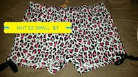 white, red, and black leopard print short shorts Webster City, 50595