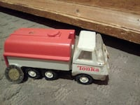 white and red Tonka toy truck Sainte-Julienne, J0K 2T0