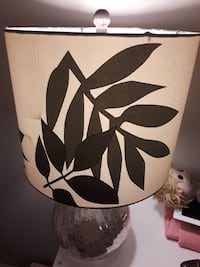 Glass silver tinted lamp