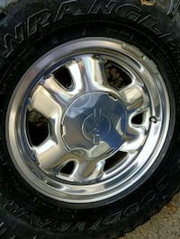 chrome 5-spoke vehicle wheel and tire Citrus Heights, 95610