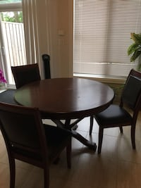 Round dining table with 3 chairs  Toronto, M8V 4B6