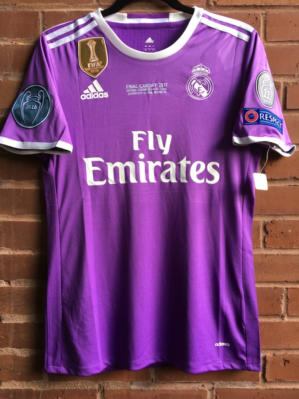 low cost 7c1ff f1c40 2017 CRISTIANO RONALDO, Real Madrid champions league jersey final match,  Men's size Medium