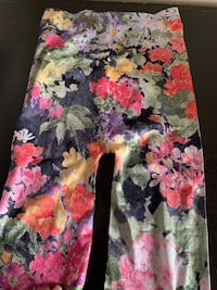 black, pink, and green floral skirt 2242 mi
