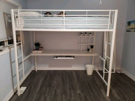 Full / Double Loft Bed With Desk