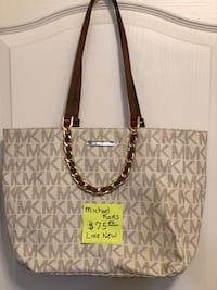 brown monogrammed Michael Kors leather tote bag New Smyrna Beach, 32168