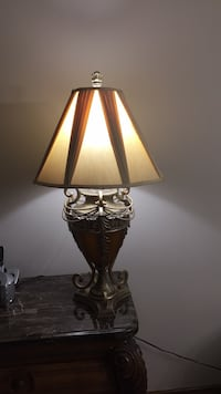 Glass and metal large table lamps. Set of 2 Vaughan, L4L 1K2
