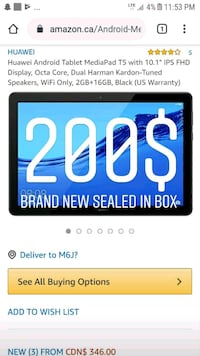 Huawei Android tablet T5
