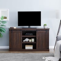 Farmhouse TV Stand /Cabinet in White. New-Unboxed !  New York, 11103