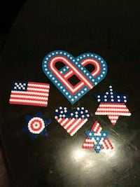 Perler bead's red white and blue Las Vegas, 89104