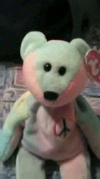 white and red bear plush toy Louisville, 40272