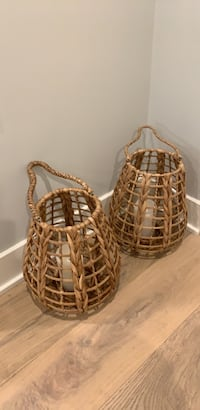 rattan candle holders  Los Angeles, 90049