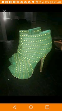 green and yellow pumps size 9 $40 Baltimore, 21229