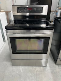 LG STAINLESS GLASS TOP STOVE WITH CONVECTION OVEN 4 MONTH WARRANTY
