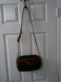 red and black leather crossbody bag Raleigh, 27616