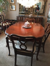 Dining Set - table, chairs and hutch