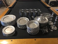 Pewter Dishes - 10 Place Settings Hickman, 68372