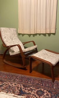 B/w floral print rocking chair from IKEA!