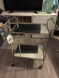 Mirrored Serving Bar Cart Markham, L3R 1A1