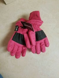 2 pair Pink Water proof gloves for girls  West Des Moines, 50266