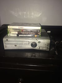 white Xbox 360 console with game cases Bakersfield, 93307
