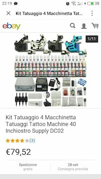 Kit Tattoo 4 screenshot macchina tatuaggio Montichiari, 25018