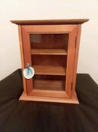 Small wood glass cabinet Temple, 76504