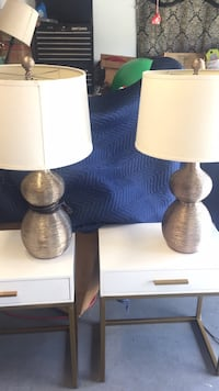 two white and gray table lamps Orlando, 32818