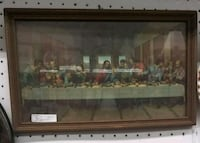 Antique last supper framed print  20 mi